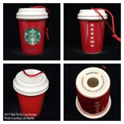 2017 Red To Go Cup Europe Starbucks Ornament