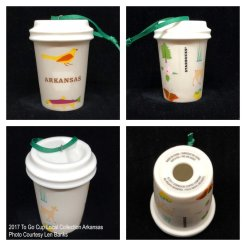 2017 To Go Cup Local Collection Arkansas Starbucks Ornament