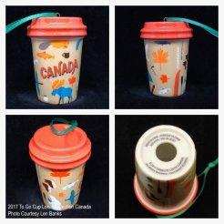 2017 To Go Cup Local Collection Canada Starbucks Ornament