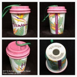 2017 To Go Cup Local Collection Hawaii Starbucks Ornament