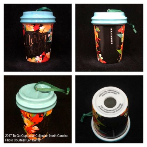 2017 To Go Cup Local Collection North Carolina Starbucks Ornament