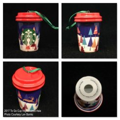 2017 To Go Cup Night Forest Asia Starbucks Ornament