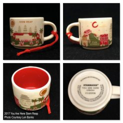 2017 You Are Here Siem Reap Starbucks Ornament