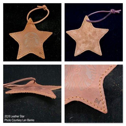 2018 Leather Star Starbucks Ornament