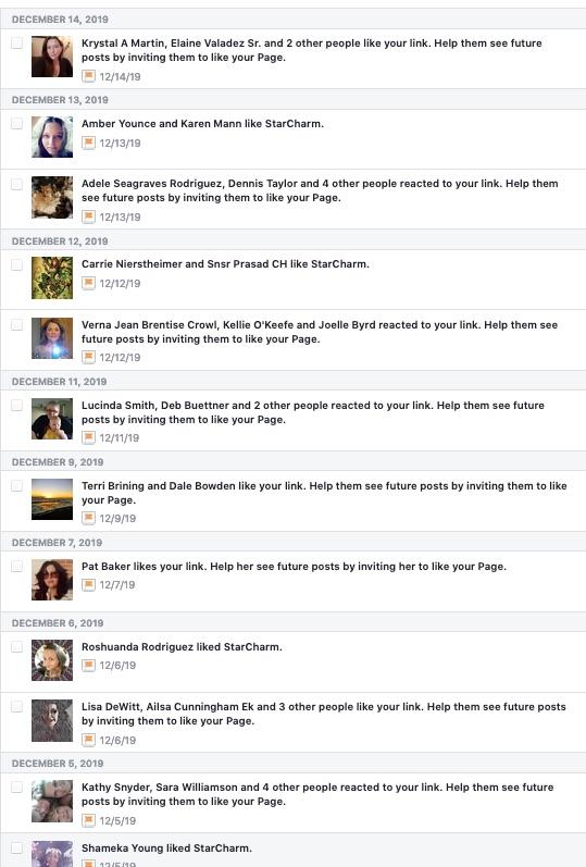 Facebook likes screenshot