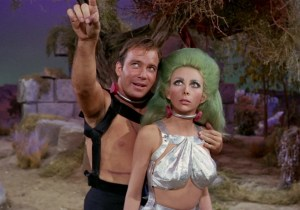 Captain Kirk and Alien Woman