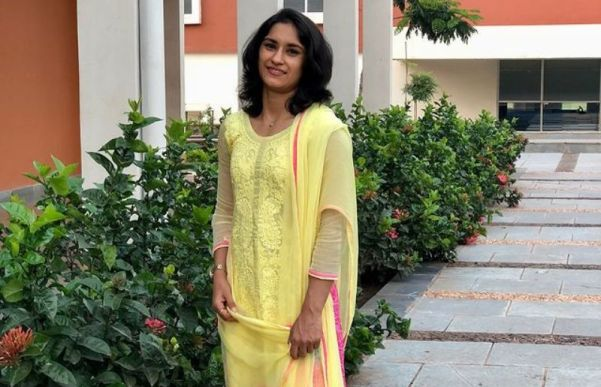 Vinesh Phogat at the JSW Indian institute of Sports