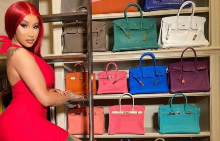 Cardi B at the purse collection