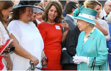 Gina Rinehart with queen Elizabeth