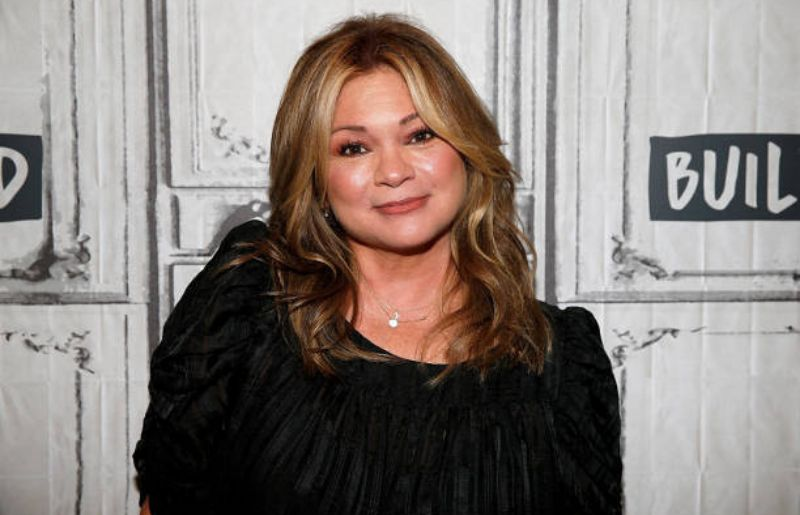 Valerie Bertinelli at the celebrities' visit build