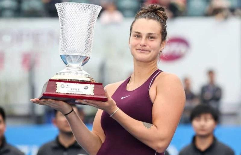 Aryna Sabalenka at 2019 WTA Shenzhen Open