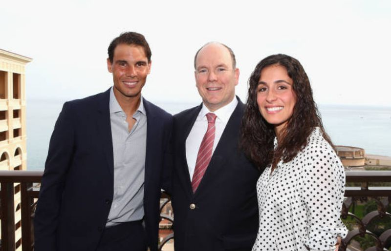 Rafael Nadal with his wife