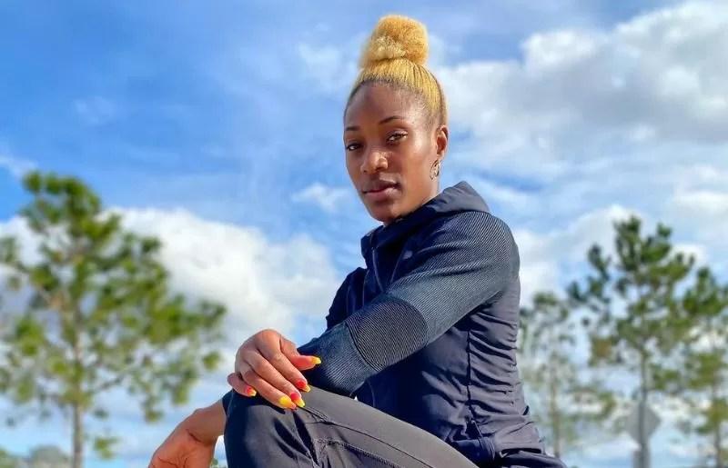 Shaunae Miller-Uibo in adidas ad shot