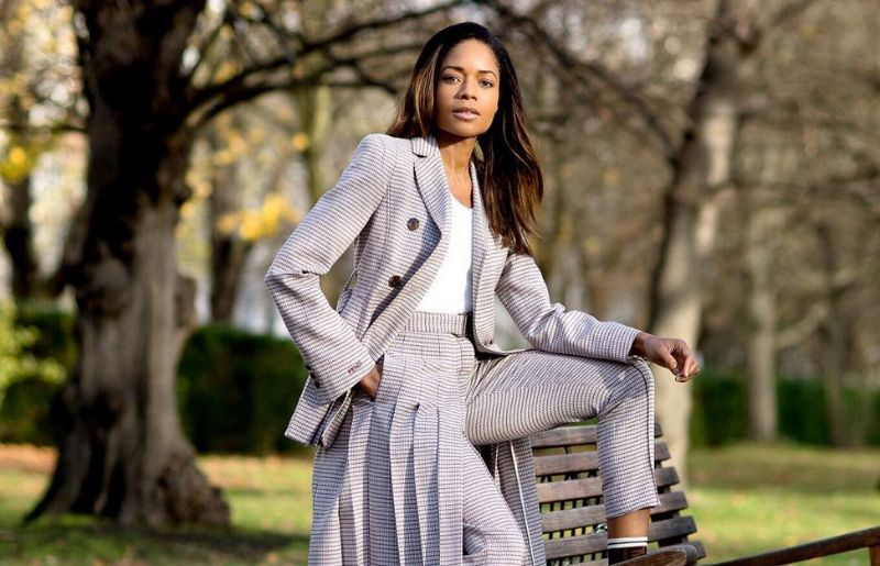 Naomie Harris at the monday photoshoot at the park