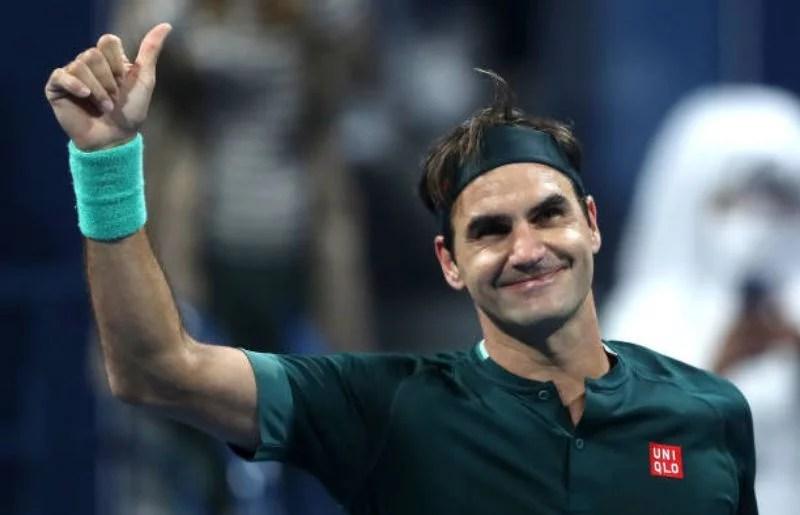Roger Federer at Qatar ExxonMobil Open 2021 - Day Three