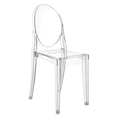 kartell victoria ghost crystal clear chair by philippe starck
