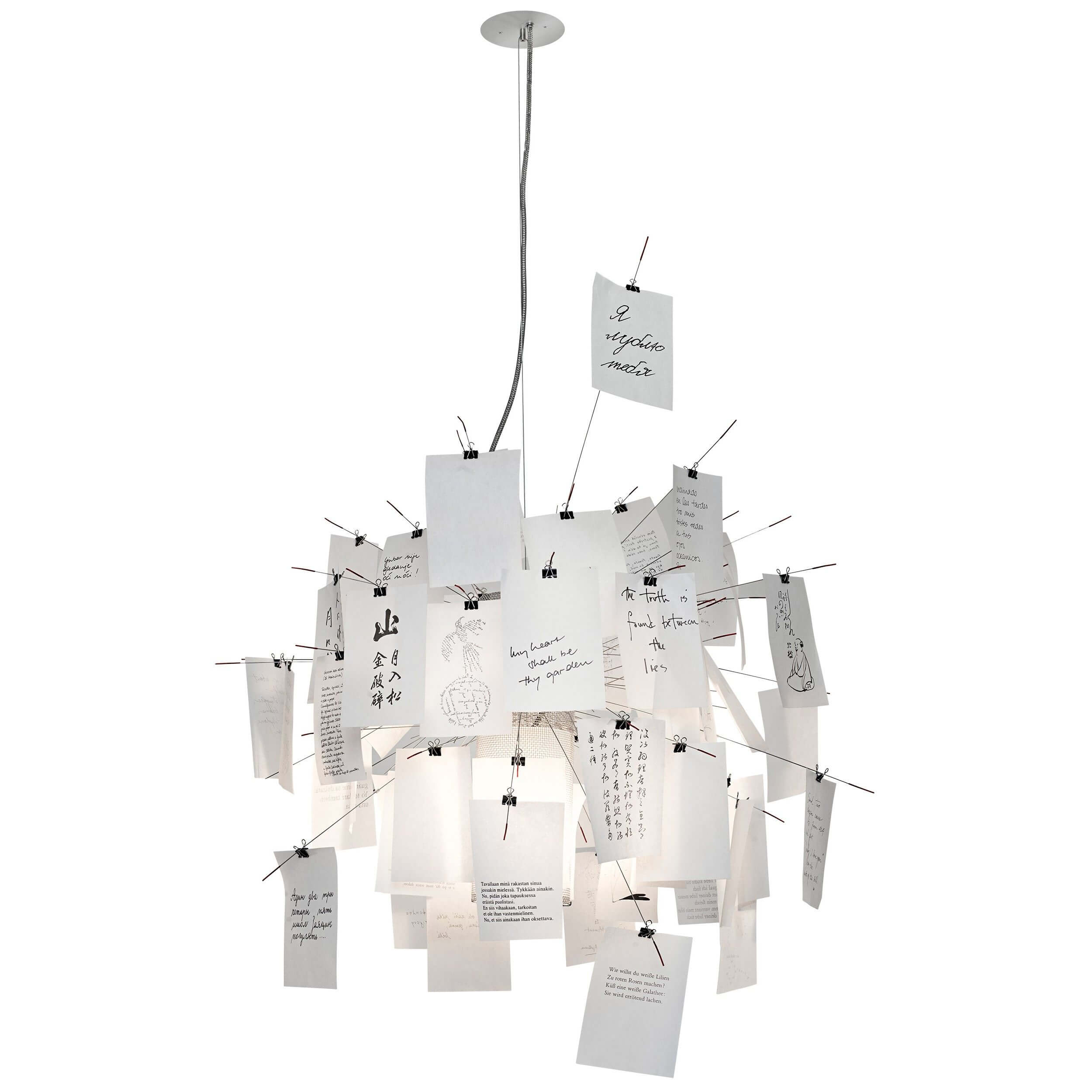 Zettel Z 6 174 31 5 In White Paper Chandelier By Ingo Maurer