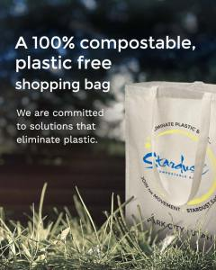 100% compostable plastic-free shopping bag