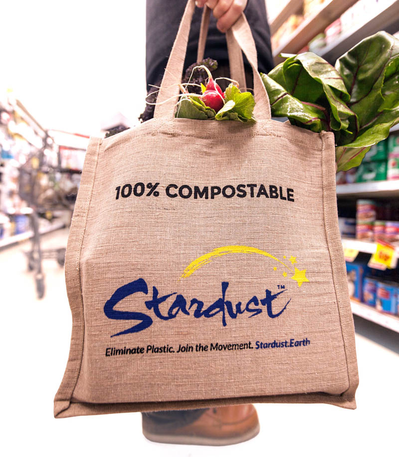 durable, heavy-duty stardust shopping bag