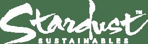 stardust sustainables logo - white retina