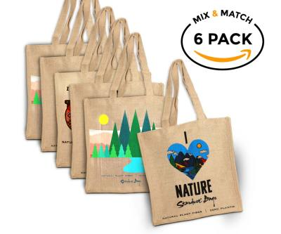 mix and match compostable grocery bag 6 pack by stardust sustainables