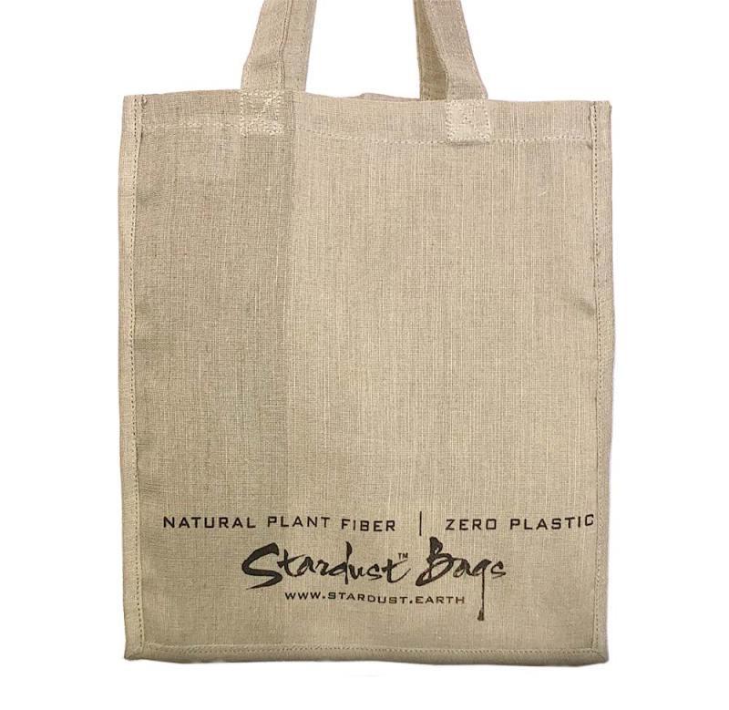 Stardust Signature Plain reusable compostable jute shopping grocery bag