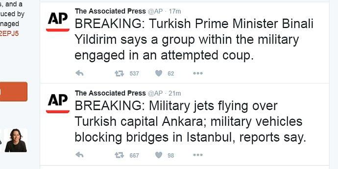 Tentativă de lovitură de stat militară aparent eşuată în Turcia