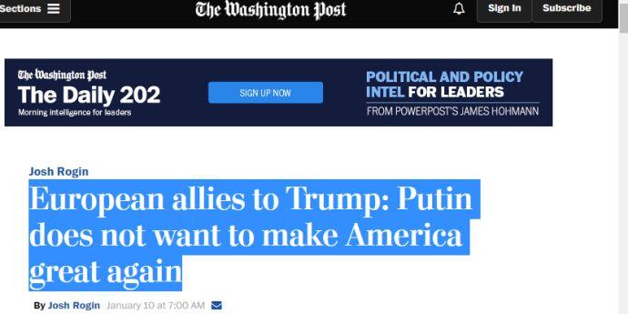 Apel european la Trump să facă America mai puternică