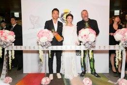 (左起)S HOTEL董事長汪小菲、大S徐熙媛、法國設計師Philippe Starck2