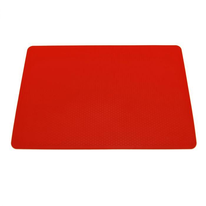tapis de cuisson en silicone rouge