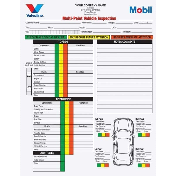 Multi Point Inspection Forms MPVCC 690