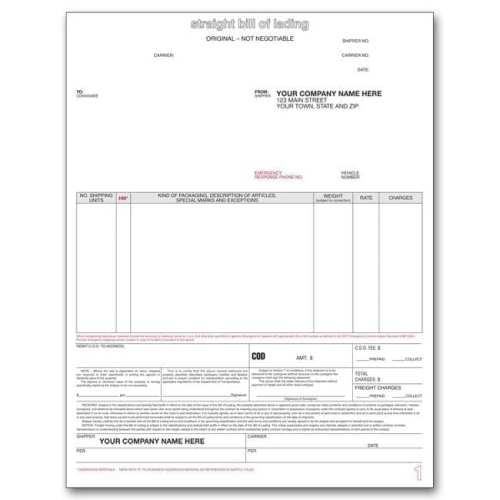 Laser Bill of Lading Form 13651