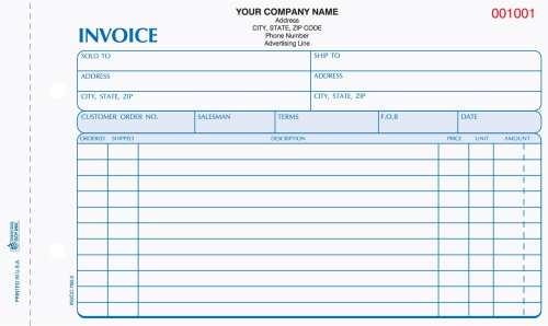 2 part service invoices INVCC-760-2