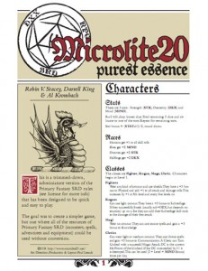 Microlite20 purest essence