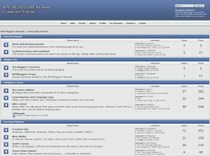RPG Bloggers Network Community Forums