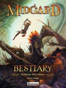 The cover of the Midgard Bestiary