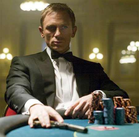Clearly James Bond relies on divination for his uncanny luck in games of chance and villainous death traps