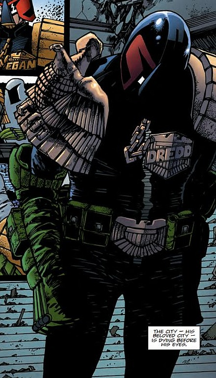 O 2000 AD! What have you done to Judge Dredd's - and my - Mega-City?!