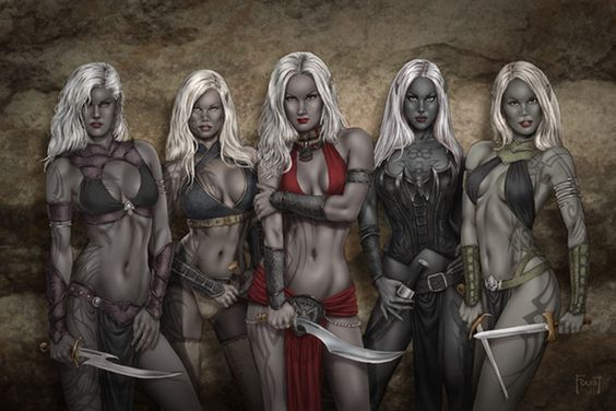fantasy girls top 10 girls of fantasy sf special mention 7 drow draenei stark after