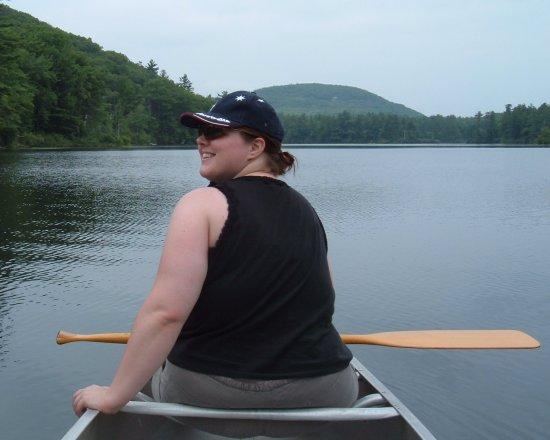 amanda in the canoe