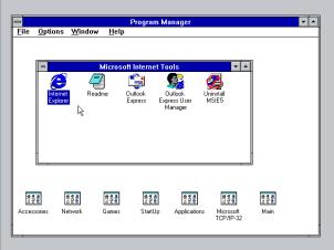 Program Manager - Internet Explorer