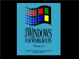 Windows for Workgroups 3.11 Splash Screen