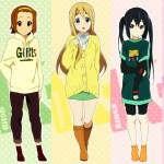 k-on cast in street clothes