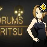 k-on - ritsu - drums
