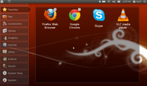 Screenshot of Ubuntu on a Netbook