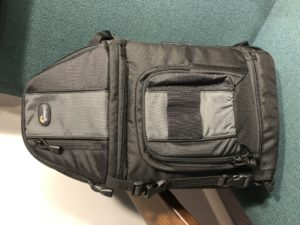 The larger Lowepro sling camera bag