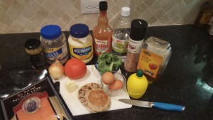 Ingredients for Eggs Benny