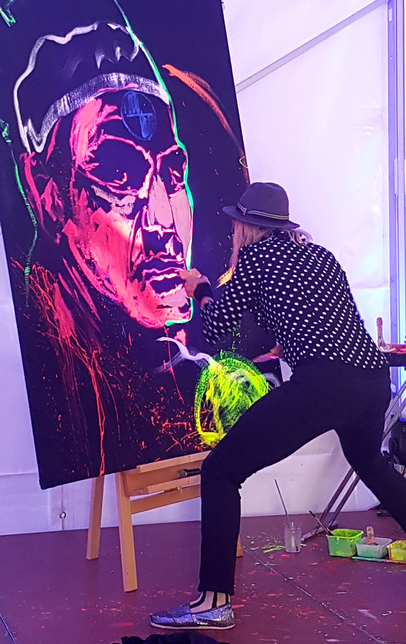 Action Painting Roger Federer
