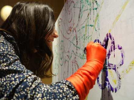 interaktive paint-show