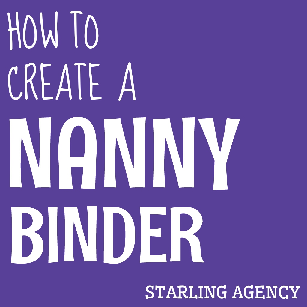 How To Create A Nanny Binder